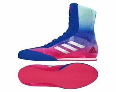 Adidas Boxing Box Hog Plus Boots Shoes 7-14uk  Adults Blue/Pink/Green/White