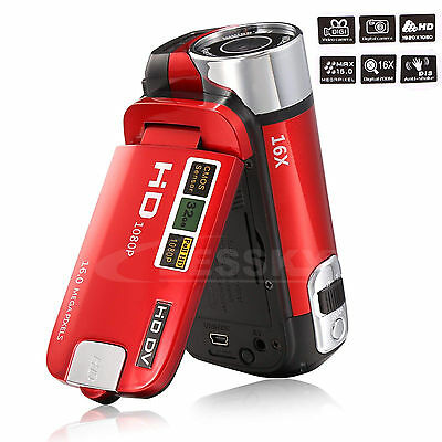 Full HD 1080P 16MP Digital Video Camcorder Camera DV 2.7'' TFT LCD 16X ZOOM Hot