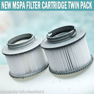 NEW MSPA Filter Cartridge Twin Pack Compact Size Suits All Models Of M Spas