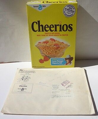 1980 Cheerios Cereal Box The Legend of Lone Ranger & Fan Kit  Klinton Spilsbury