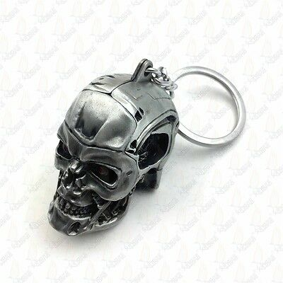 1pc Creative Motorcycle Bicycle Skull Key Chain Ring Keychain Keyring Key Fob