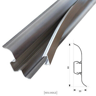 2,5m Skirting board Wenge 60mm Baseboard Cable duct Skirting boards Laminate PVC