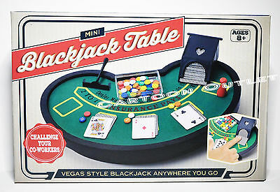 Mini Blackjack Table Game Desktop Office Christmas Gift New Vegas Style Home