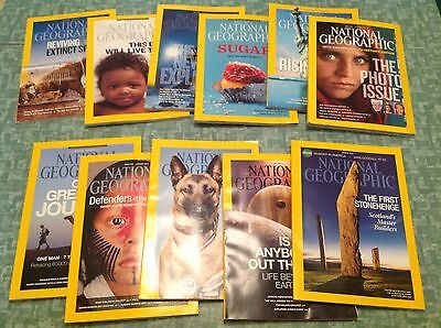 National Geographic Magazine -  Lot Of 11 Issues 2013, 2014