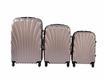 NEW 3 Pcs Luggage Travel Set Bag ABS Trolley Suitcase with Lock