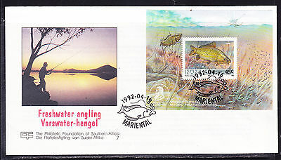 Namibia 1992 Freshwater Angling Miniature Sheet First Day Cover - Unaddressed