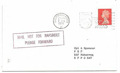Gulf War Cover RAF Support Helicopters Redirected Muharraq Bahrain 1991