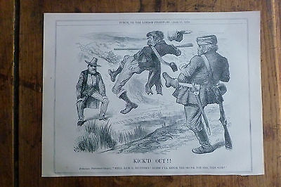 "Anti-Irish Punch Print Fenian being ""Kick'd Out!!"" to the USA June 11th.1870"