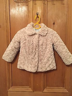 Gorgeous Girls Faux Fur Jacket Coat Age 3-4 Perfect For Christmas Parties!