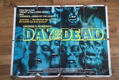 Day of The Dead Original Vintage UK Quad Poster - George Romero - Zombies