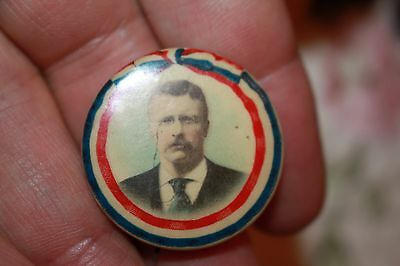 Teddy Roosevelt Colorized photographic Presidential Pin Bunting Flag Boarder