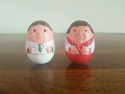 Vintage 1970's Airfix Rare Doctor And Nurse  Weebles