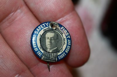 Woodrow Wilson 8 hour day photographic Presidential Pin