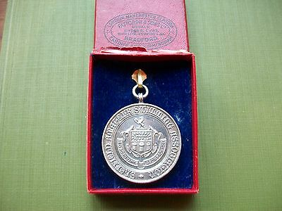 1918, Sheffield Diving Championship, Antique Second Prize Medal:s.s.holmes