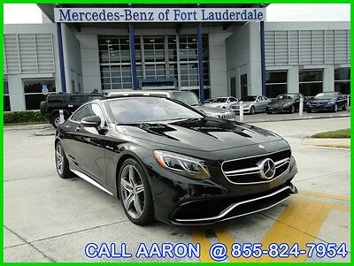 2015 Mercedes-Benz S-Class WE SHIP, WE EXPORT, WE FINANCE 2015 MERCEDES-BENZ AMG S63 COUPE 4MATIC AWD 577HP!!! MB CERTIFIED PRE-OWNED CPO