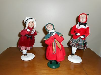 Byers Choice Carolers Ice Skating Lot - Signed Edition - Free Shipping