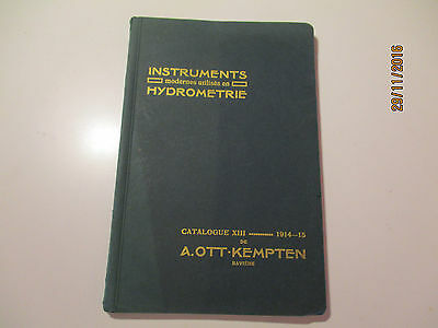 A. Ott Hydrometric Oceanographic Instruments Price List Catalogue