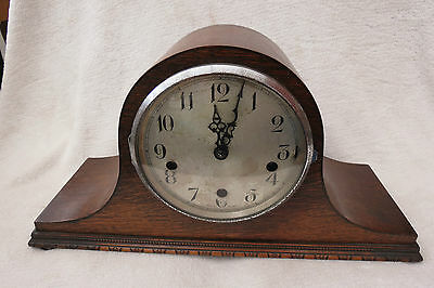 Vintage Enfield Clock Co Westminster Chime Napoleon Hat Mantel Clock