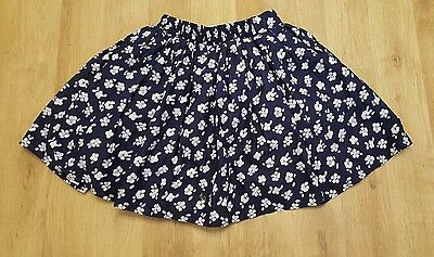 brand new girls skirt 8-9 years george blue with flowers layered