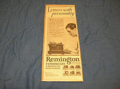 Remington Typewriters Small Magazine Ad - Original - 1926