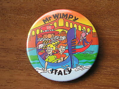 Uk Wimpy Mr Wimpy Italy Beefeater Badge Button