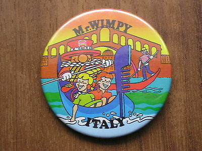 Uk Wimpy Beefeater Mr. Wimpy Italy Badge Button