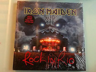 3 LP 2002  NEW SEALED!! Iron Maiden ‎– Rock In Rio -Picture Disc