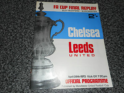 1970 F.A.CUP FINAL REPLAY :  CHELSEA  v  LEEDS UNITED @ MANCHESTER UNITED APR 29