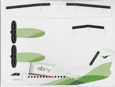 Wideroe Norway De Havilland Dash 8 Norway Paper Model-Glider Sealed