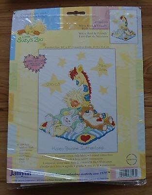 Vintage Little Suzy's Zoo Birth Announcement Cross Stitch Complete