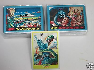 Mars Attacks Occupation Topps complete 55 card 1962 rare metal parallel set