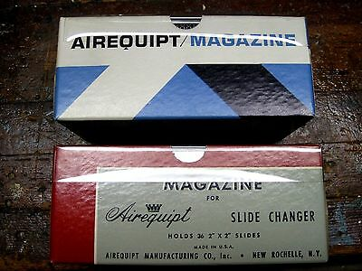 AIREQUIPT SLIDE MAGAZINES (4) FOR CHANGER: HOLDS 36 SLIDES 2x2 in.:VINTAGE