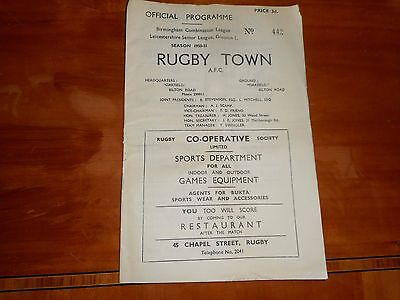 RUGBY TOWN  v  ATHERSTONE TOWN  1950/1  BIRMINGHAM COMBINATION ~ NOVEMBER 4th
