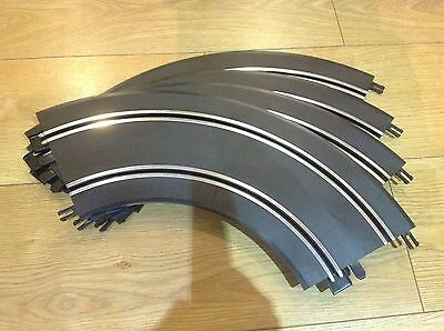 SCALEXTRIC START TRACK x4 FULLSIZE CURVES MINT TESTED
