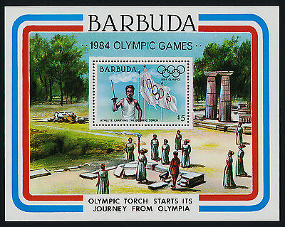 Barbuda 634a MNH Olympic Torch, Flags