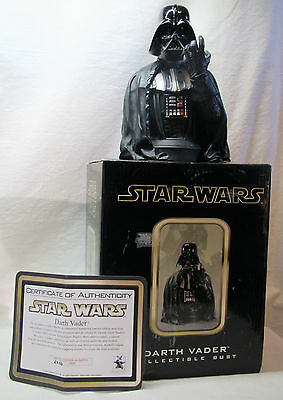 """2002 Darth Vader Mini Bust Collector's Edition Gentle Giant NIB 6"""" 2036 of 3500"""