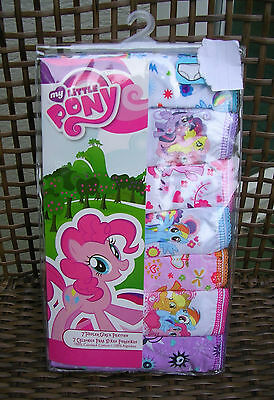 """//(*_*)\   """"MY LITTLE PONY"""" GIRLS  7 Prs PANTIES  SIZE 2T - 3T  NWT #rR2/3"""