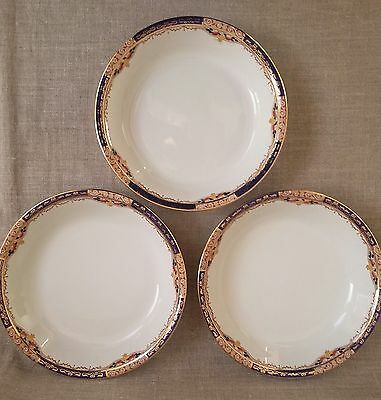 Burleigh Ware Vintage 1930's YORK Pattern: THREE x Bowls Beehive Back-Stamp