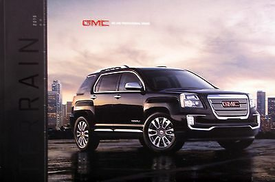 2016 GMC Terrain crossover new vehicle brochure