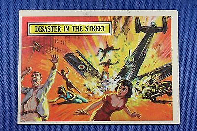 1965 Topps Battle Cards - #43 Disaster In The Street - VGEx Condition