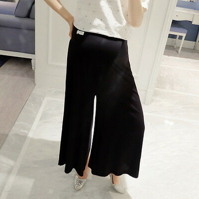 New Pregnant Women Palazzo Pants Loose Maternity Belly Cover Wide Leg Trousers