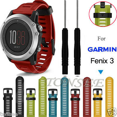 [For Garmin Fenix 3] Soft Silicone Strap Replacement Strap watch band avec outil