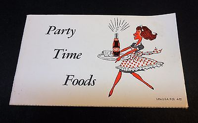 """Vintage Dr Pepper 1972 """"Party Time Foods"""" Foldout Brochure with 19 recipes"""