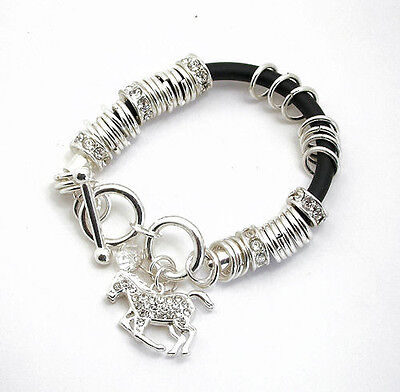 Horse & Western Jewellery Jewelry Sparkling Ladies Horse Charm Bracelet