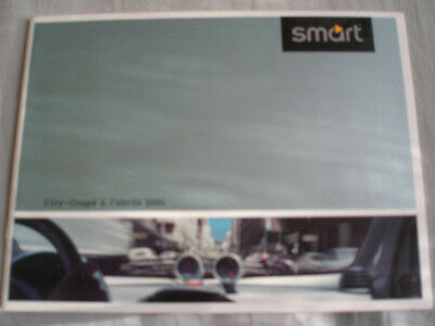 Smart City Coupe & Cabrio brochure 2001 small format German text