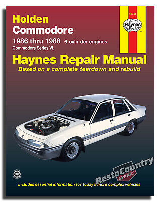 Holden Commodore VL - 6cyl Workshop Service + Repair Manual 1981-85 book + Turbo