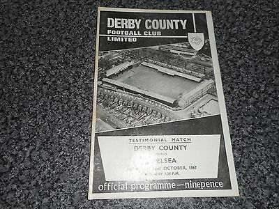 DERBY COUNTY  v  CHELSEA  1967/8 RALPH HANN + JACK PARRY TESTIMONIAL ~ OCT 23rd