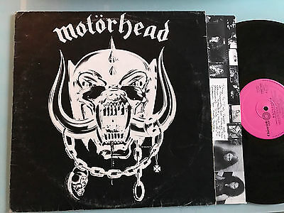 LP  ITALY RARE Motörhead  MOTORHEAD 1ST ISSUE 1977 Chiswick Records ‎– CWMP 3500