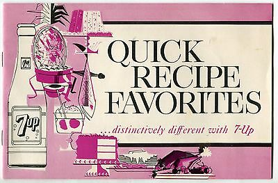 1963 Vintage 7-UP Promotional Recipe Booklet