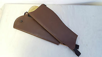 Saddle Craft Brown Leather Gaiters Long/short/Narrow/Wide/standard  41cm - 47cm